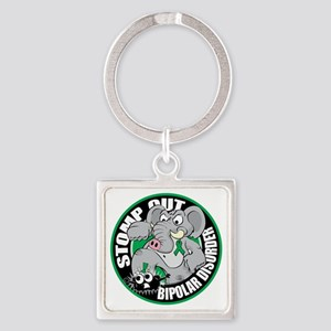 Stomp-Out-Bipolar-Disorder-Circle Square Keychain