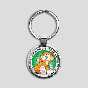Bipolar-Disorder-Cat Round Keychain