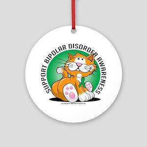Bipolar-Disorder-Cat Round Ornament