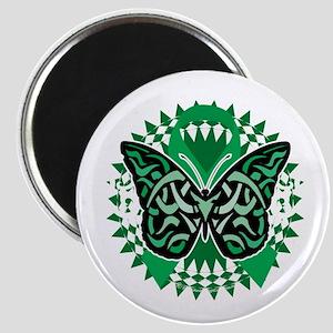 Bipolar-Disorder-Butterfly-Tribal-2-blk Magnet