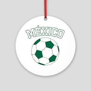 soccerballMX1 Round Ornament