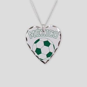 soccerballMX1 Necklace Heart Charm