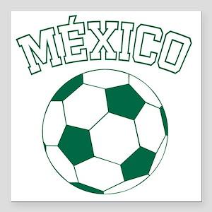"soccerballMX1 Square Car Magnet 3"" x 3"""