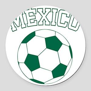 soccerballMX1 Round Car Magnet