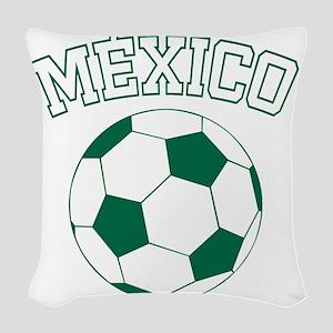 soccerballMX1 Woven Throw Pillow