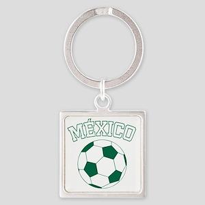 soccerballMX1 Square Keychain
