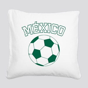 soccerballMX1 Square Canvas Pillow