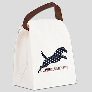 Chesapeake Bay Retriever Stars Canvas Lunch Bag