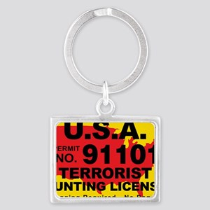 TH-License-usa Landscape Keychain