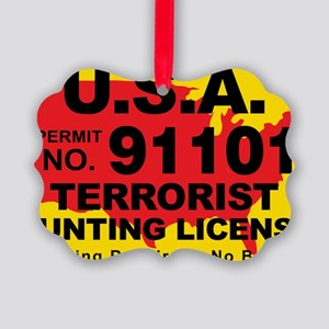 TH-License-usa Picture Ornament