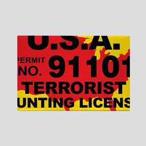 TH-License-usa Rectangle Magnet
