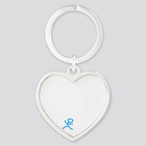 Check My Pulse White Heart Keychain