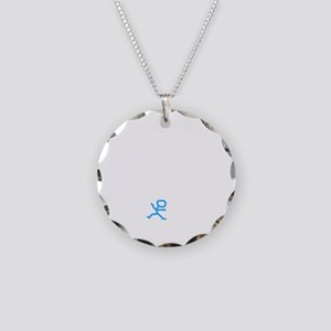Check My Pulse White Necklace Circle Charm
