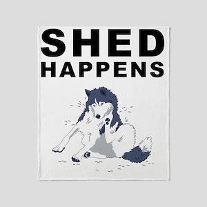 shed_tshirt_light Throw Blanket