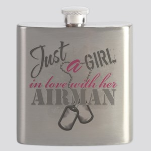 Just a girl Airman Flask