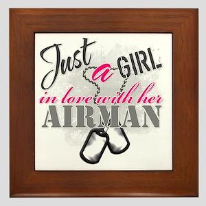 Just a girl Airman Framed Tile