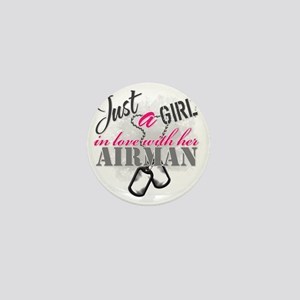 Just a girl Airman Mini Button