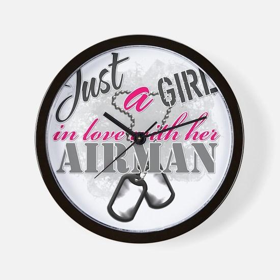 Just a girl Airman Wall Clock