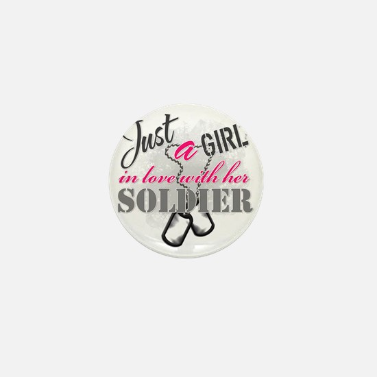 Just a girl Soldier Mini Button
