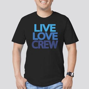 live-love-crew Men's Fitted T-Shirt (dark)