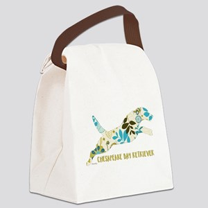 Chesapeake Bay Retriever Floral Canvas Lunch Bag
