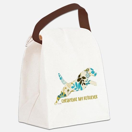 Chesapeake Bay Retriever Floral Canvas Lunch Bag