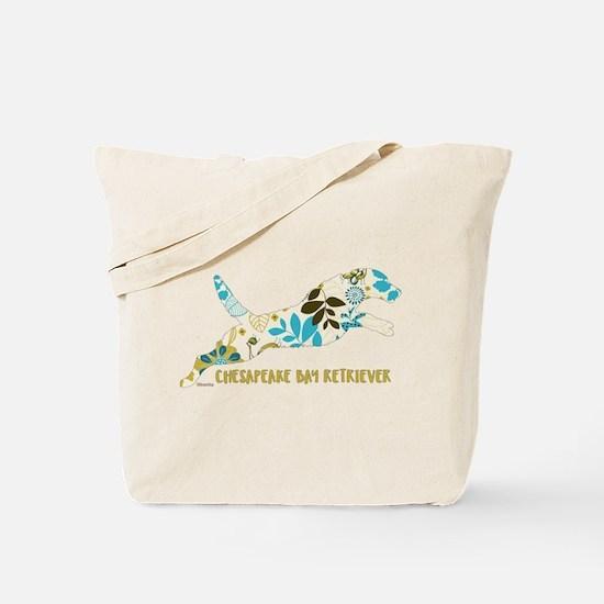 Chesapeake Bay Retriever Floral Tote Bag
