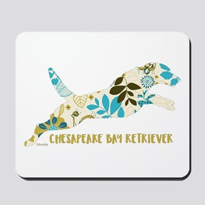 Chesapeake Bay Retriever Floral Mousepad