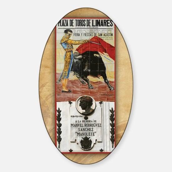 Manolete Tile Sticker (Oval)