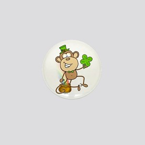 Leprechaun Monkey Mini Button