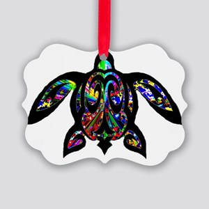 hawaiian honu turtle print Picture Ornament