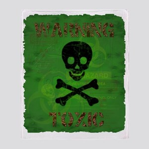 Toxic warning shirt Throw Blanket