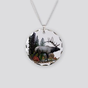 ElkAholic Necklace Circle Charm