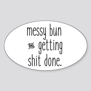 Messy Bun Sticker