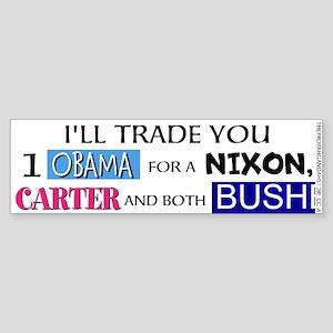 I'll trade you 1 Obama Bumper Sticker