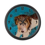 Wire Fox Terrier Puppy Large Wall Clock