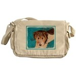 Wire Fox Terrier Puppy Messenger Bag