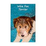 Wire Fox Terrier Puppy Mini Poster Print
