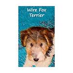 Wire Fox Terrier Puppy Sticker (Rectangle 10 pk)