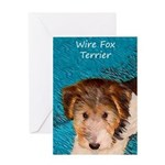 Wire Fox Terrier Puppy Greeting Card