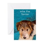 Wire Fox Terrier Puppy Greeting Cards (Pk of 20)