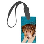 Wire Fox Terrier Puppy Large Luggage Tag