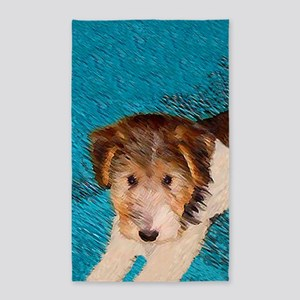 Wire Fox Terrier Puppy Area Rug