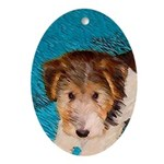 Wire Fox Terrier Puppy Oval Ornament
