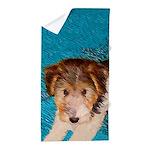 Wire Fox Terrier Puppy Beach Towel
