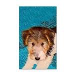Wire Fox Terrier Puppy Rectangle Car Magnet