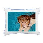 Wire Fox Terrier Puppy Rectangular Canvas Pillow