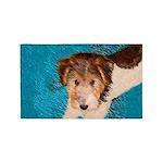 Wire Fox Terrier Puppy Area Rug