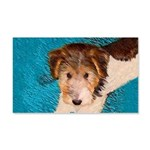 Wire Fox Terrier Puppy 20x12 Wall Decal