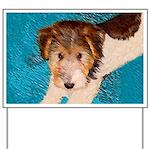 Wire Fox Terrier Puppy Yard Sign